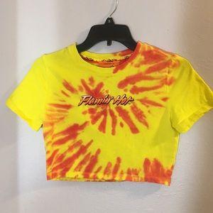 Cheetos Tie-Dye cropped t-shirt